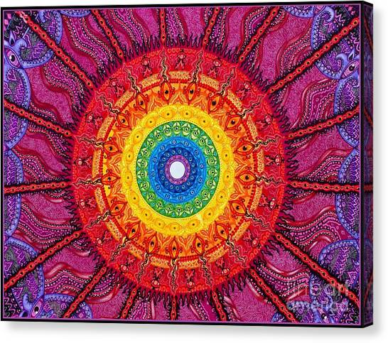 Eye Of The Chakra Storm Canvas Print