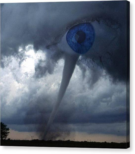 Tornadoes Canvas Print - eye Of The Storm #abstract by Steve Wilkinson
