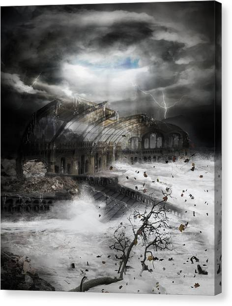 Hurricanes Canvas Print - Eye Of The Storm by Karen Koski
