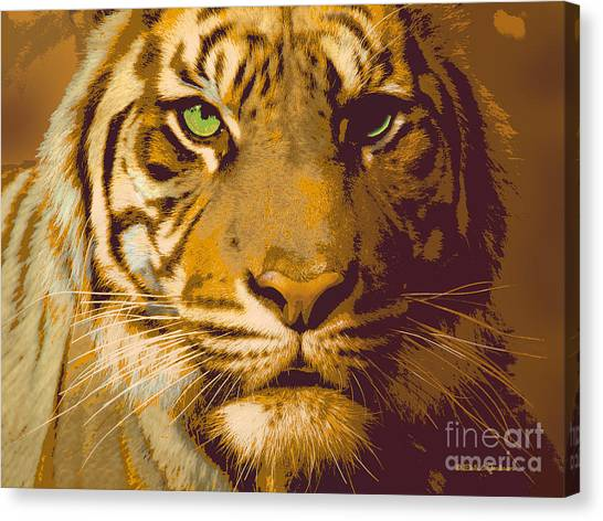 Eye Of The Tiger Animal Portrait  Canvas Print