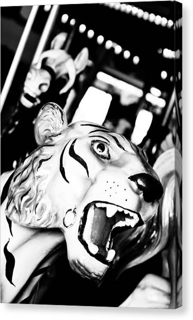 Casino Pier Canvas Print - Eye Of The Tiger by Colleen Kammerer