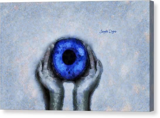 Grey Canvas Print - Eye Offer - Da by Leonardo Digenio