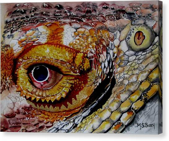 Eye On The Matter Canvas Print by Maria Barry