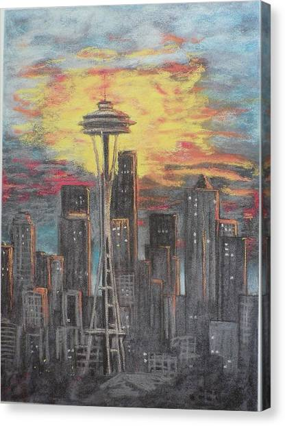 Eye On The Needle Canvas Print by Dan Bozich