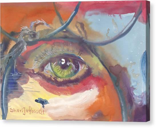 Eye See A Bird Canvas Print