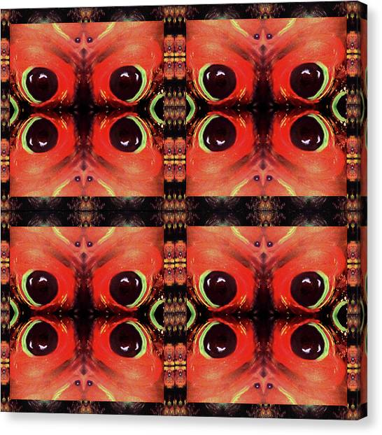 Canvas Print featuring the painting Eyes 8 Four Square by Michelle Audas