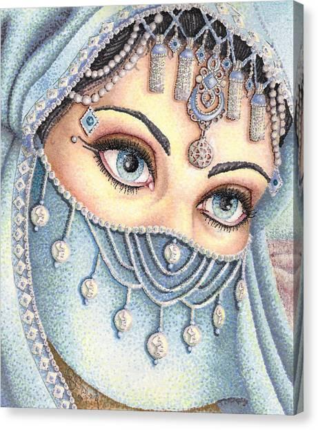Eyes Like Water Canvas Print by Scarlett Royal