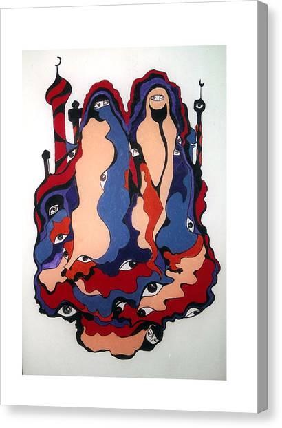 Eyes Of Islam Canvas Print by Rae Chichilnitsky