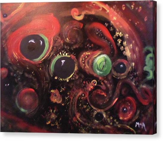 Canvas Print featuring the painting Eyes Of The Universe # 5 by Michelle Audas
