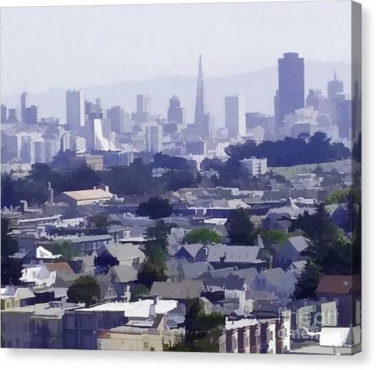 Looking East Toward San Francisco Canvas Print