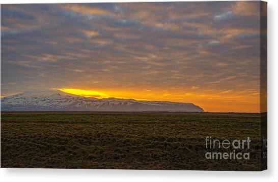 Seljalandsfoss Canvas Print - Eyjafjallajokull Sunrise Iceland by Chris Thaxter