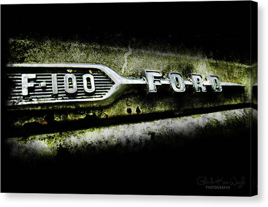 Canvas Print featuring the photograph F-100 Ford by Glenda Wright