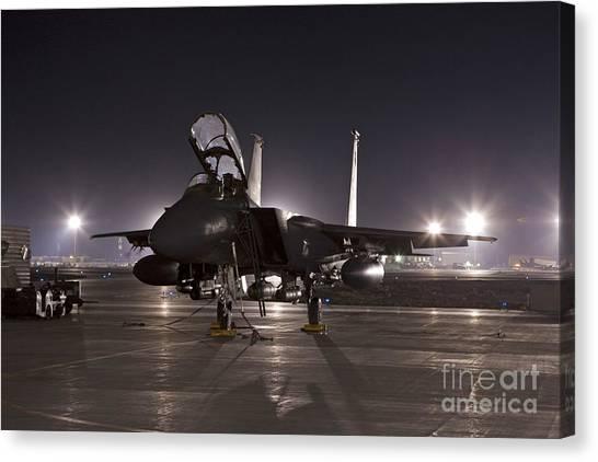 Nato Canvas Print - F-15e As A Rock Star by Tim Grams