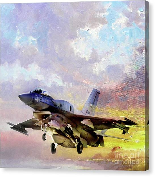 F16 Canvas Print - F 16 Air Craft 091 by Gull G