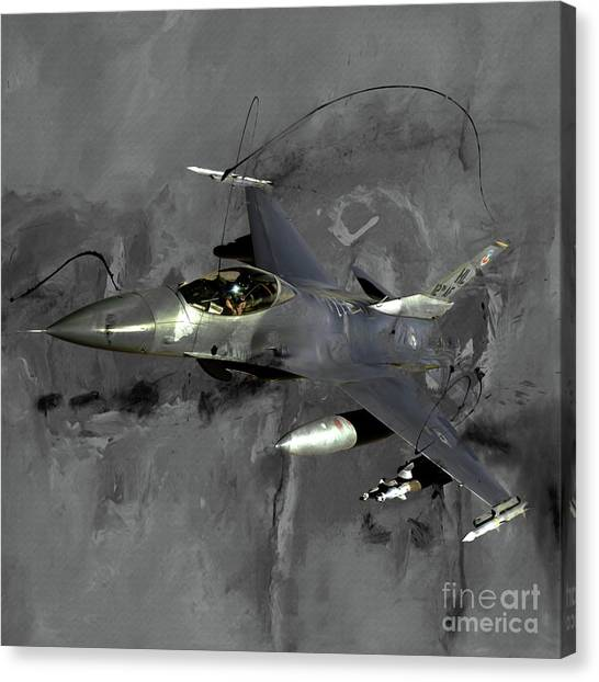 F16 Canvas Print - F 16 Air Craft  by Gull G