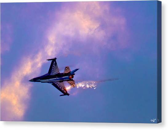 F16 Canvas Print - F-16 by Chris Lord