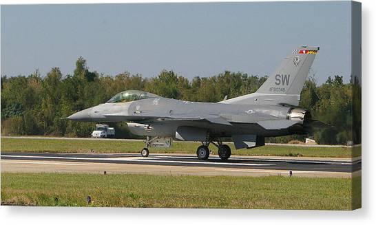 F-16 Falcon Canvas Print by Donald Tusa