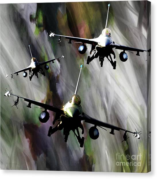 F16 Canvas Print - f 16 Falcon fighters by Gull G