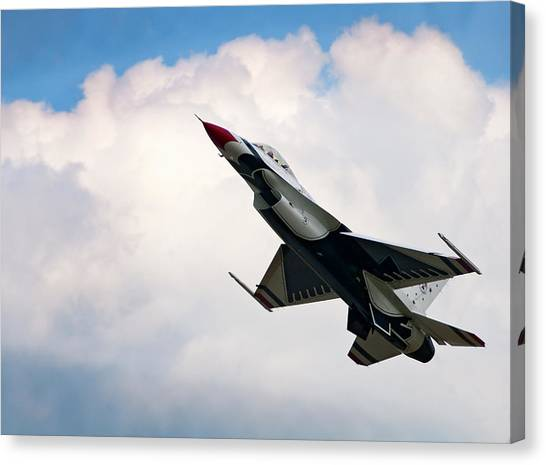 F16 Canvas Print - F-16 Falcon by Murray Bloom