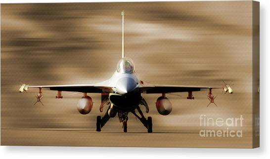 F16 Canvas Print - F 16 Fighting Falcon 012 by Gull G