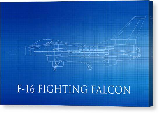 Airplane blueprint canvas prints page 12 of 19 fine art america airplane blueprint canvas print f 16 fighting falcon blueprint by brooke roby malvernweather Images