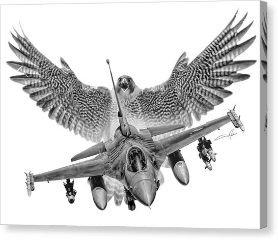 Vipers Canvas Print - F-16 Fighting Falcon by Dale Jackson
