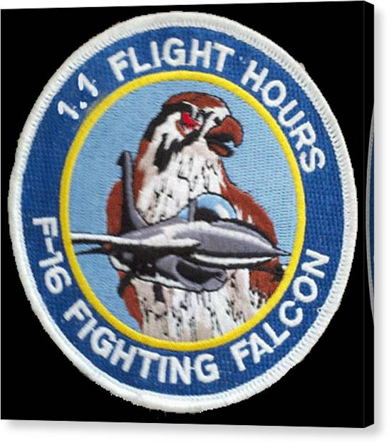 F-16 Ride Patch Canvas Print