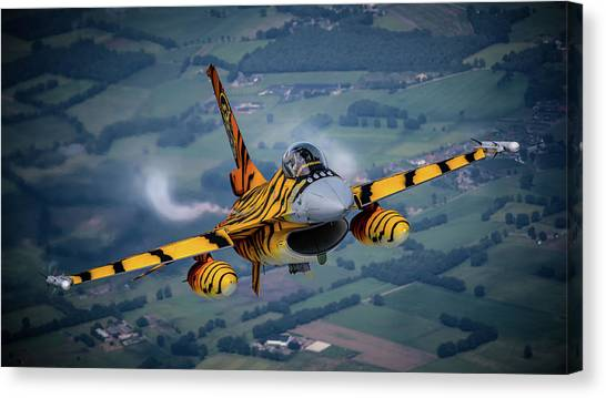 F16 Canvas Print - F-16 Tiger by Neil Atterbury