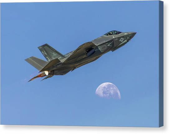F-35 Shoots The Moon Canvas Print