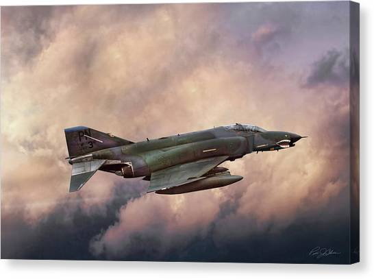 Sidewinders Canvas Print - F-4e Phantom Sea by Peter Chilelli