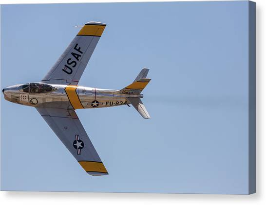 F-86 Jolley Roger Canvas Print