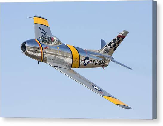 F-86 Sabre Flyby Canvas Print