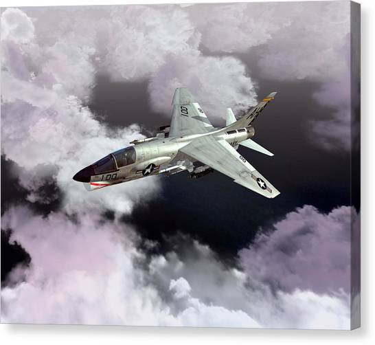 F-8e At Kilo Marshall Canvas Print