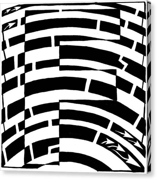 F Maze Canvas Print by Yonatan Frimer Maze Artist