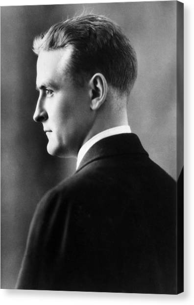 F. Scott Fitzgerald Circa 1925 Canvas Print