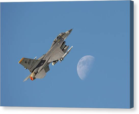F16 Canvas Print - F16 - Aiming High by Pat Speirs