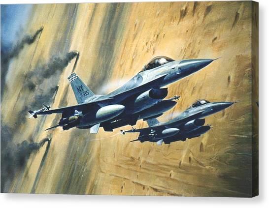 'f16 Desert Storm' Canvas Print