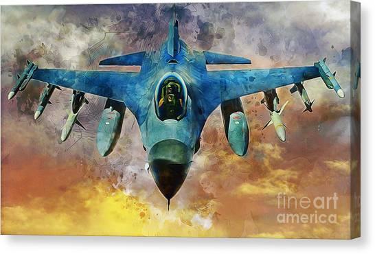F16 Canvas Print - F16 Falcon by Ian Mitchell