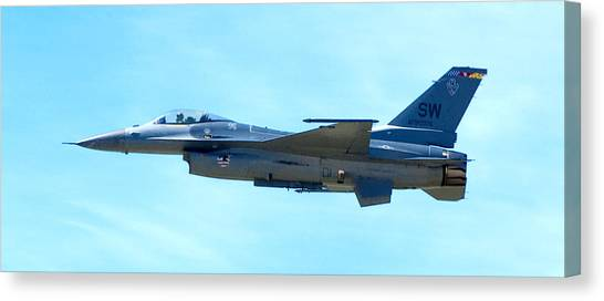F16 Canvas Print - F16 by Greg Fortier