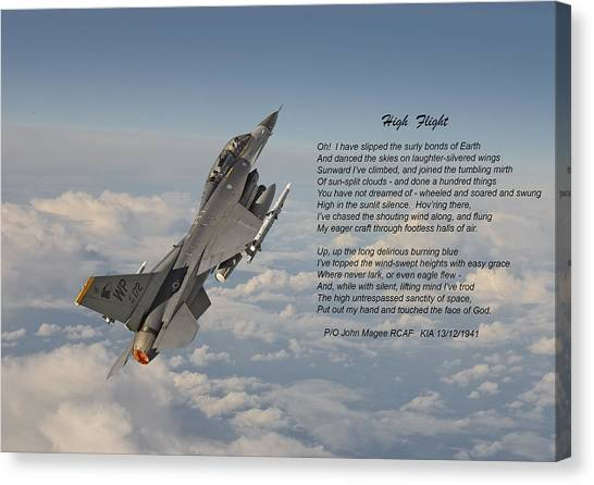 F16 Canvas Print - F16 - High Flight by Pat Speirs
