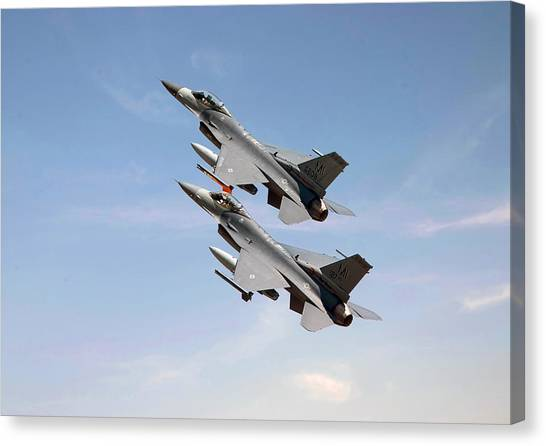 F16 Canvas Print - F16  Still The Wild Blue Beckons by Pat Speirs