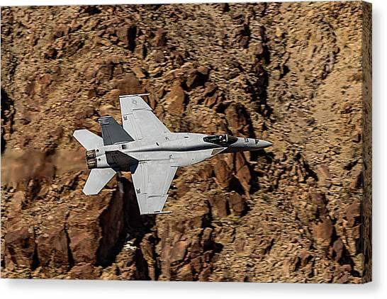 Nato Canvas Print - F18 Down In The Jedi Transition by Bill Gallagher