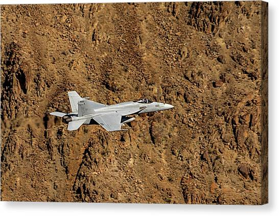 Nato Canvas Print - F18 Lighting Up Rainbow Canyon by Bill Gallagher