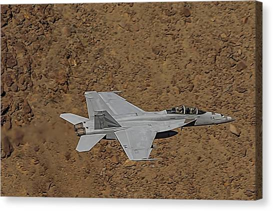 Nato Canvas Print - F18 Lightning In Star Wars Canyon by Bill Gallagher