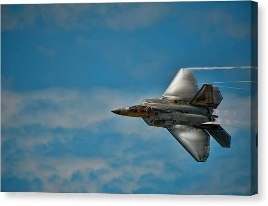 F22 Raptor Steals The Show Canvas Print