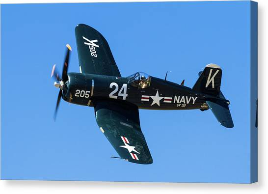 F4u Corsair 205 Canvas Print