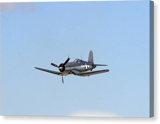 Wii Canvas Print - F4u In The Blue by Shoal Hollingsworth