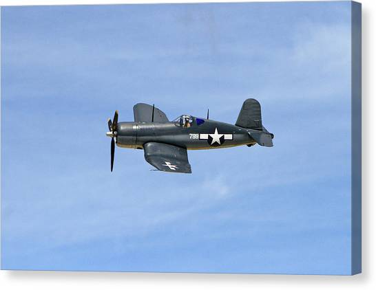 Wii Canvas Print - F4u In The Sky by Shoal Hollingsworth