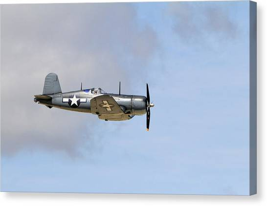 Wii Canvas Print - F4u Through The Couds by Shoal Hollingsworth