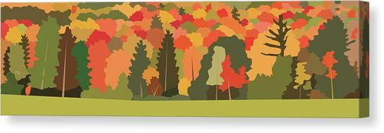 Fall Forest Canvas Print by Marian Federspiel